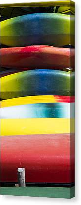 Kayaks Stacked At Lake Wingra - Madison - Wisconsin Canvas Print
