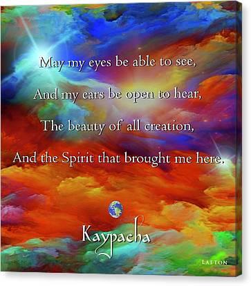 Kaypacha August 17,2016 Canvas Print
