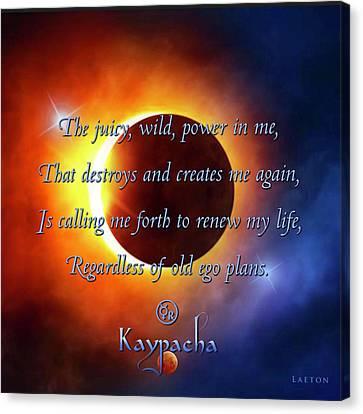 Kaypacha August 31, 2016 Canvas Print by Richard Laeton