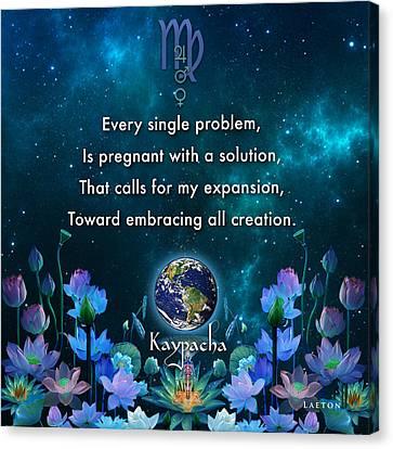 Kaypacha's Mantra 10.28.2015 Canvas Print
