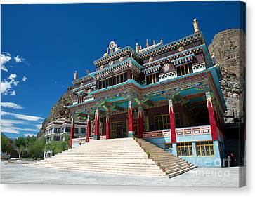 Canvas Print featuring the photograph Kaza Monastery by Yew Kwang