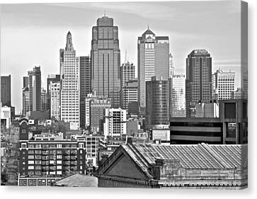 Kc In Black And White Canvas Print by Frozen in Time Fine Art Photography
