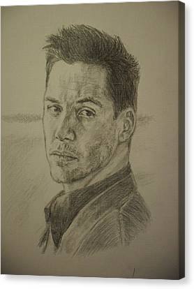 Keanu Canvas Print - Keanu Reeves by Agnes V