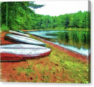 Kearney Lake Beach Canvas Print