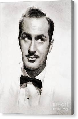 Keenan Wynn, Vintage Actor By John Springfield Canvas Print by John Springfield