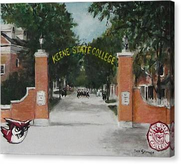 Keene State College Canvas Print by Jack Skinner