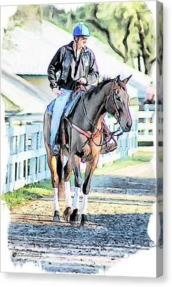 Tom Schmidt Canvas Print - Keeneland Pony Boy by Tom Schmidt