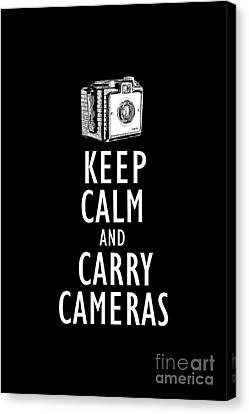 Keep Calm And Carry Cameras Tee Canvas Print