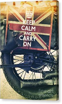 Keep Calm And Carry On Canvas Print by Tim Gainey