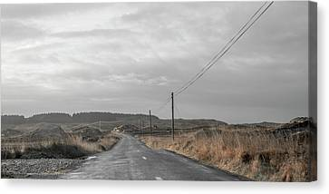 Keep Calm And Drive Canvas Print by Betsy Knapp