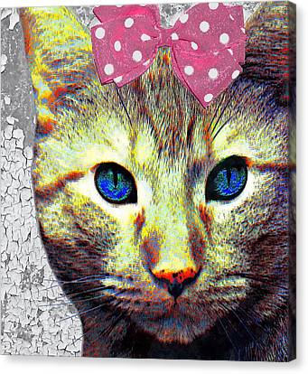 Keep Calm And Love Cats Canvas Print by Stacey Chiew