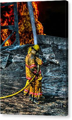 Keep Fire In Your Life No 8 Canvas Print by Tommy Anderson