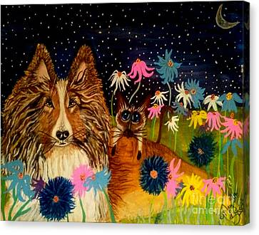 Keep Me Safe Ms Lily Canvas Print by Mary Sisson