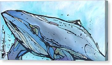 Keep Swimming Canvas Print by Nicole Gaitan