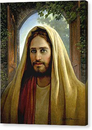 Robes Canvas Print - Keeper Of The Gate by Greg Olsen