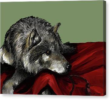 Canvas Print featuring the digital art Keeper Of The Hood by Meagan  Visser