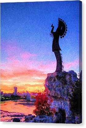 Keeper Of The Plains Canvas Print