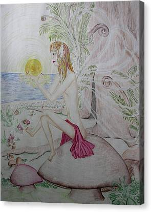 Keeper Of The Sun Canvas Print by Carol Frances Arthur