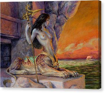Keeper Of The Way Canvas Print by Richard Hescox