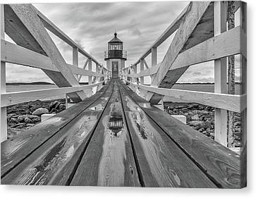 Keeper's Walkway At Marshall Point Canvas Print