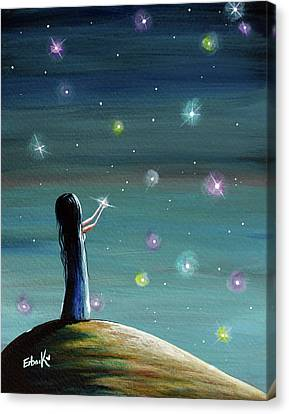 Keeping Her Dreams Alive Fantasy Painting Canvas Print