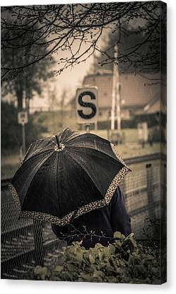 Street Shot Canvas Print - Keeping The World At Bay by Odd Jeppesen