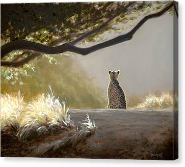 Keeping Watch - Cheetah Canvas Print