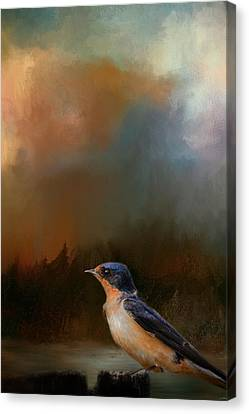 Barn Swallow Canvas Print - Keeping Watch by Jai Johnson