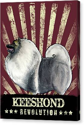 Canvas Print - Keeshond Revolution by John LaFree