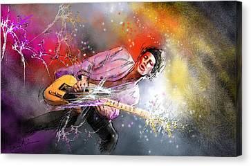Keith Richards 02 Canvas Print by Miki De Goodaboom