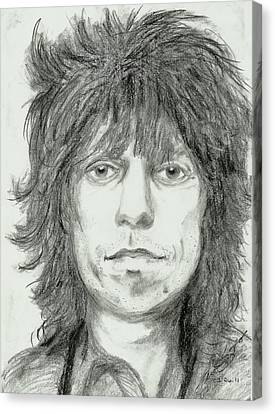 Keith Richards Canvas Print by Alison Hayes