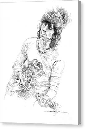Keith Richards Exile Canvas Print by David Lloyd Glover