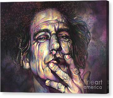 Keith Richards Canvas Print by Julianne Black