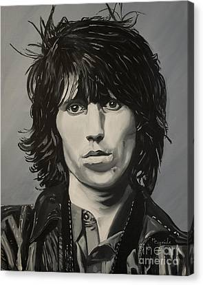 Keith Richards Canvas Print by Mary Capriole