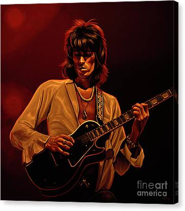 Keith Richards Mixed Media Canvas Print by Paul Meijering