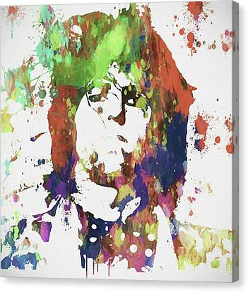 Keith Richards Paint Splatter Canvas Print by Dan Sproul