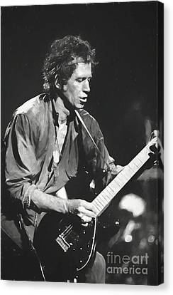 Keith Richards Canvas Print - Keith Richards Painting by Concert Photos