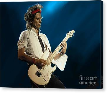Keith Richards Canvas Print by Paul Tagliamonte