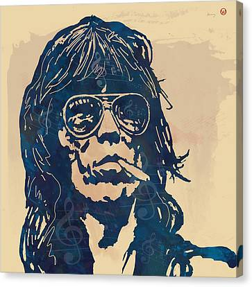 Keith Richards Pop Stylised Art Sketch Poster Canvas Print by Kim Wang