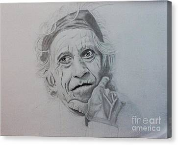 Keith Richards Of The Rolling Stone Canvas Print