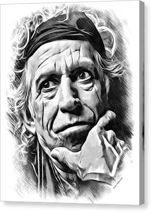 Keith Richards Sketch Canvas Print by Scott Wallace