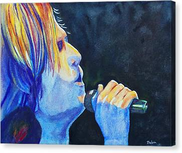 Canvas Print featuring the painting Keith Urban In Concert by Susan DeLain