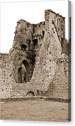 Kells Priory Ireland Tower House Ruins County Kilkenny Sepia Canvas Print