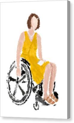 Canvas Print featuring the digital art Kelly by Nancy Levan