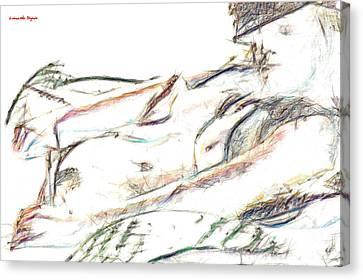 Angelical Canvas Print - Kelly - Pa by Leonardo Digenio