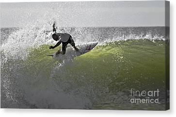 Kelly Slater Canvas Print - Kelly Slater At The Quicksilver Pro 2011 by Scott Evers
