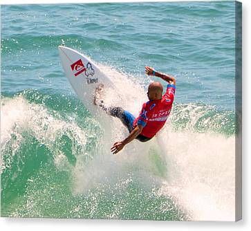 Kelly Slater Us Open Of Surfing 2012     3 Canvas Print by Jason Waugh