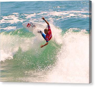 Kelly Slater Canvas Print - Kelly Slater  Us Open Of Surfing 2012     7 by Jason Waugh