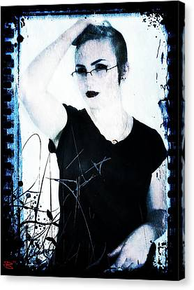 Canvas Print featuring the digital art Kelsey 2 by Mark Baranowski