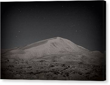 Kelso Dunes At Night Canvas Print by Nature Macabre Photography
